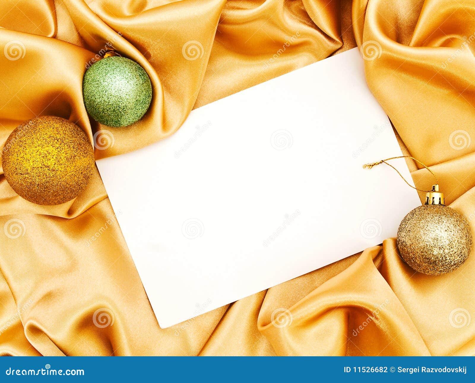 Blank Christmas Invitation Stock Photo Image Of Blank