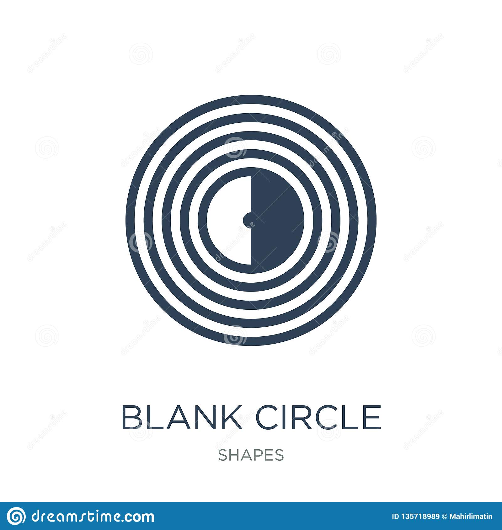 blank circle icon in trendy design style. blank circle icon isolated on white background. blank circle vector icon simple and