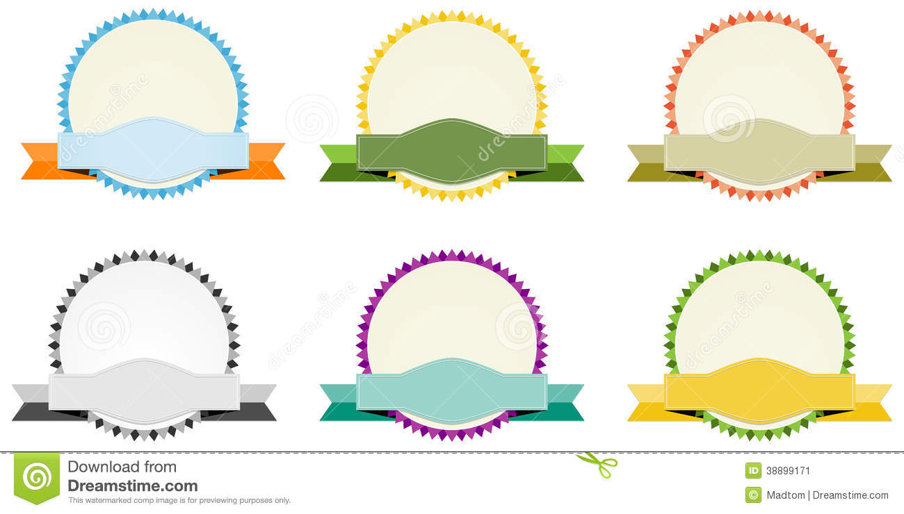 The Blank Circle Label Set Stock Vector - Image: 38899171