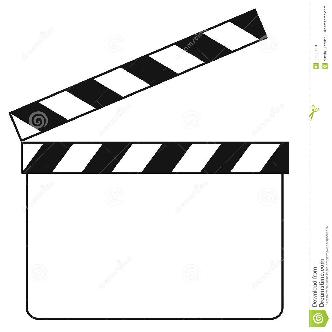Blank Clapboard Illustration Stock Photos Image 33568193