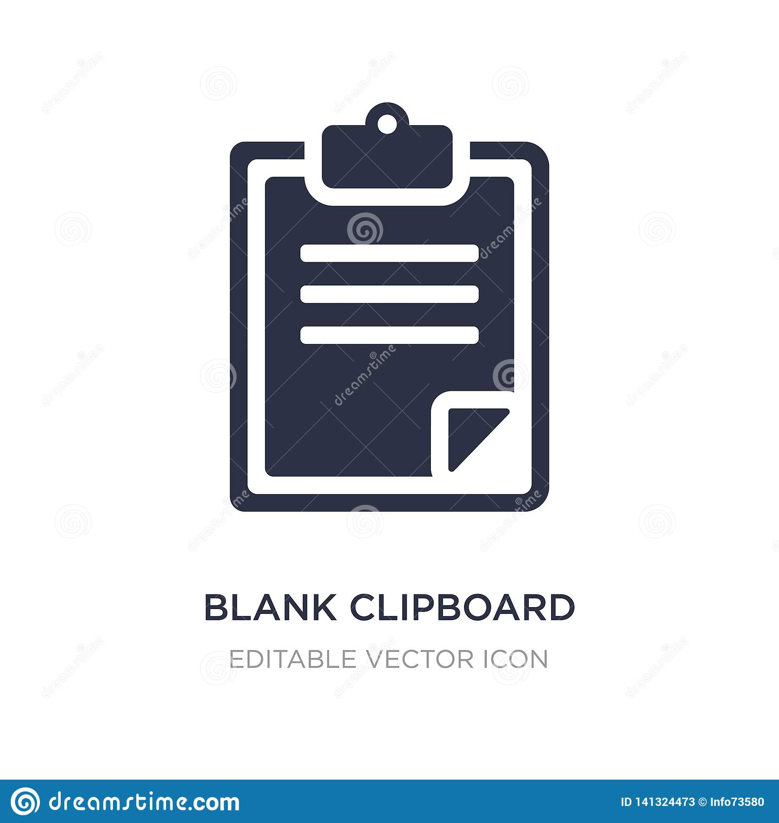 blank clipboard icon on white background. Simple element illustration from Education concept