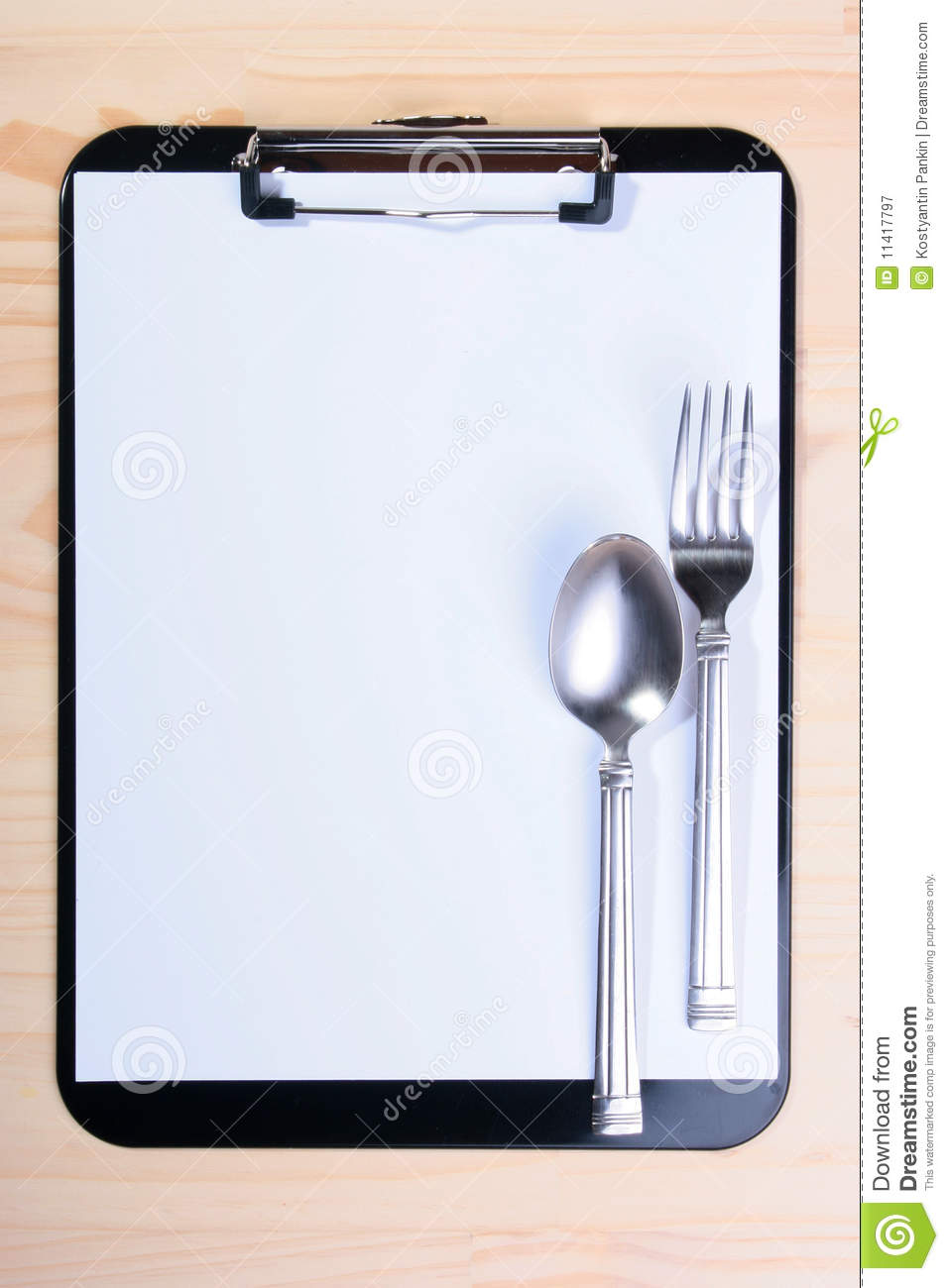 Blank Clipboard For Menu Royalty Free Stock Photography - Image ...