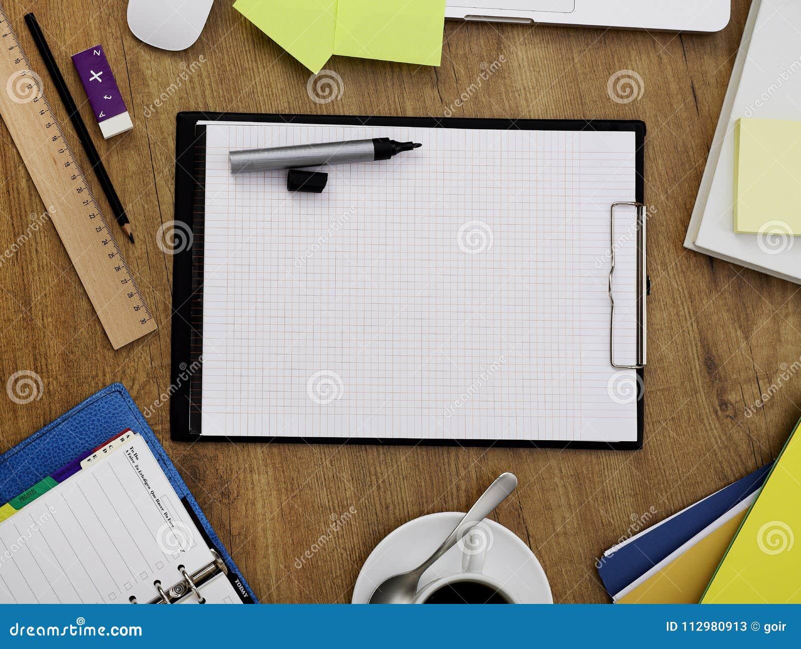 Clipboard on office desk
