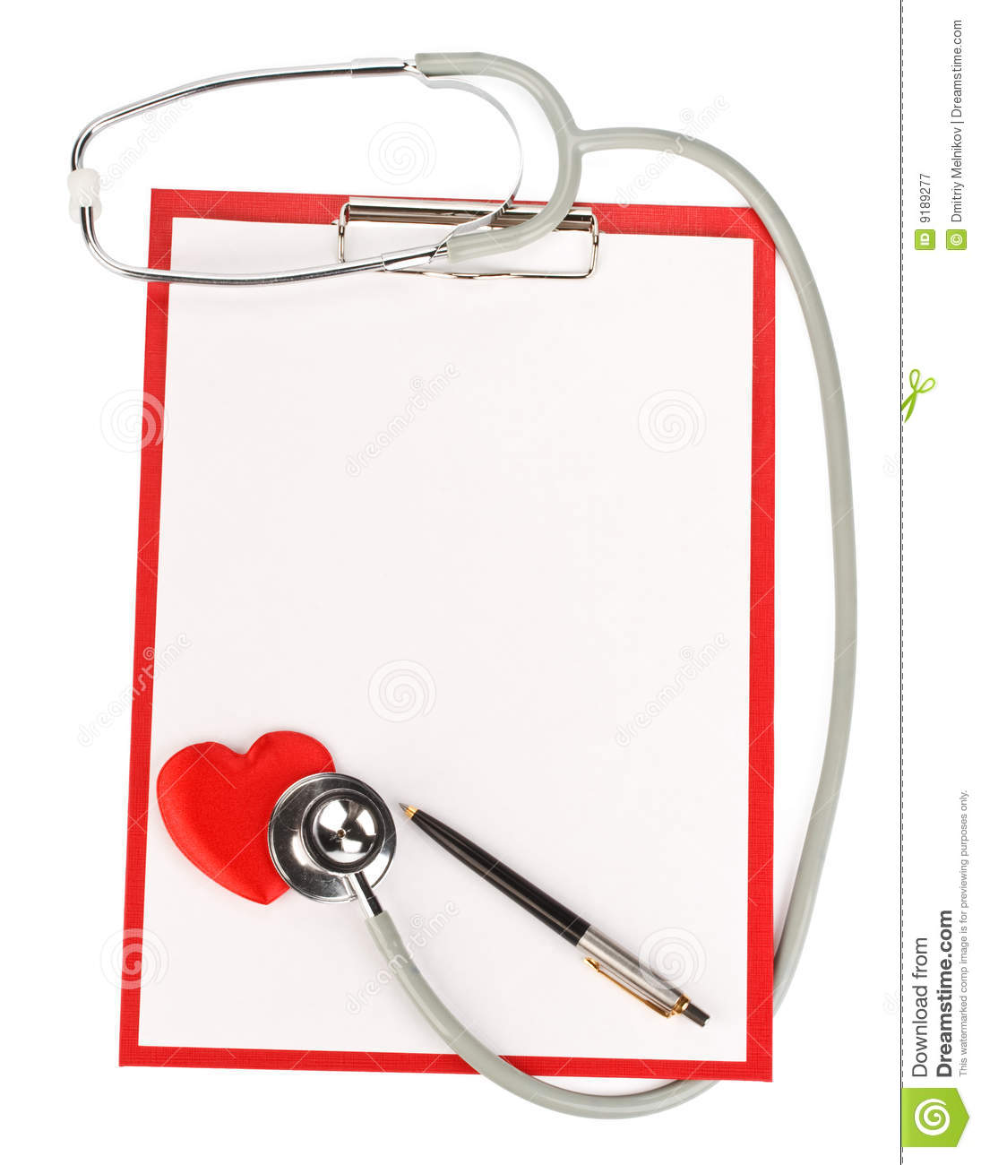 Blank Clipboard With Stethoscope Royalty Free Stock