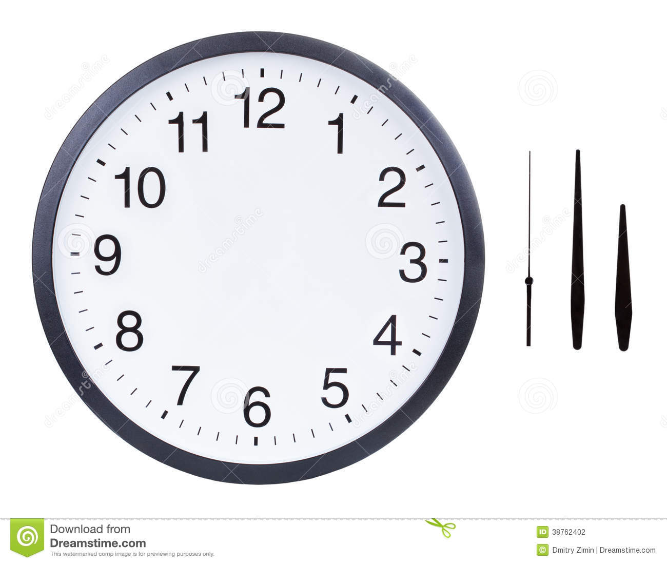 Blank clock face stock photo. Image of moment, concept - 38762402