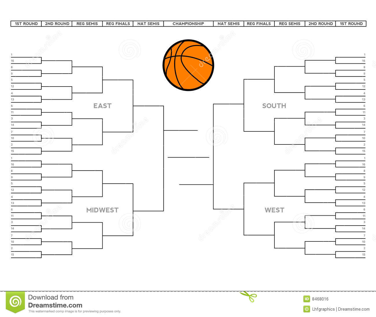 the basketball tournament bracket