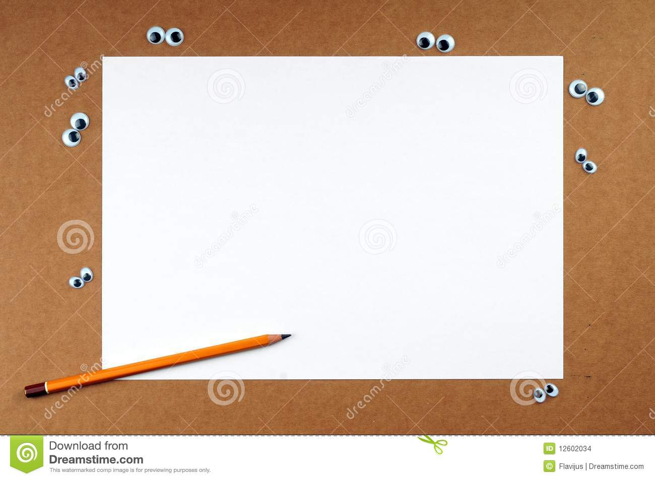 Blank color paper stock photo. Image of memorise, bulletin - 12602034