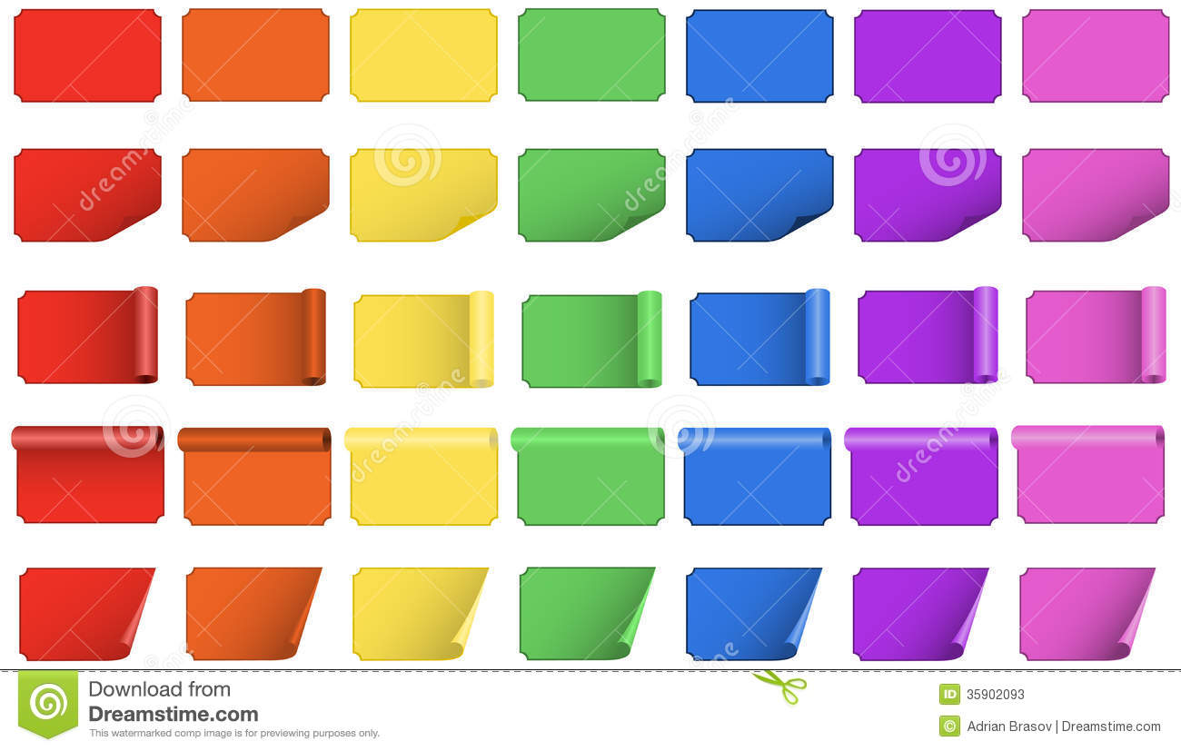 Blank Colored Labels Stock Photos - Image: 35902093