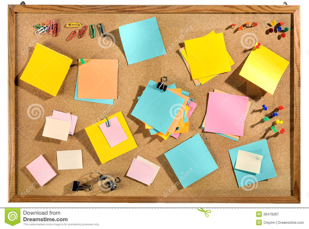cork boards for office. Blank Colorful Post It Notes And Office Supplies On Cork Message Board. Boards For O