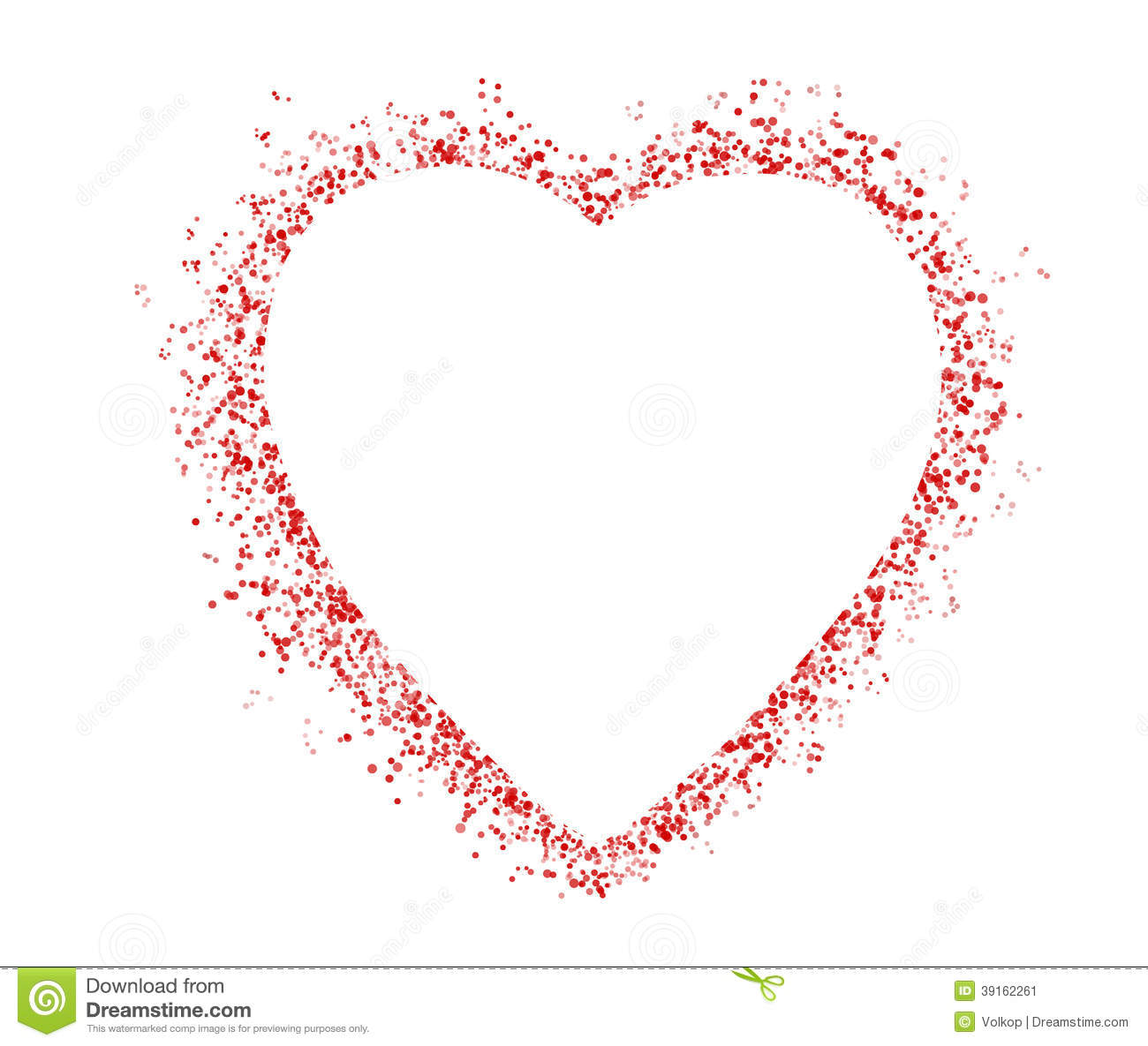 Blank Colorful Symbol Valentine Day Heart Shape Stock Image Image