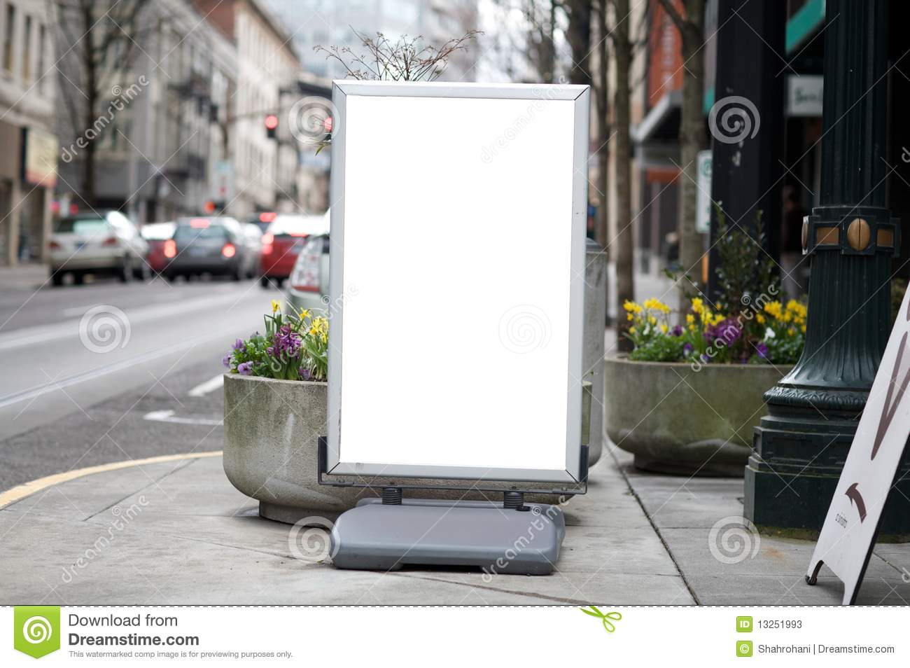 blank commercial sidewalk sign stock image image of city