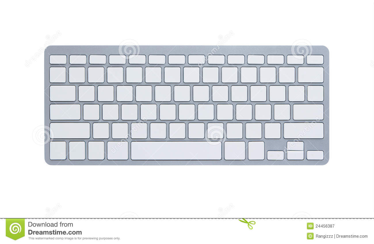 Apple Computer Coloring Pages : Blank computer keyboard with clipping path royalty free