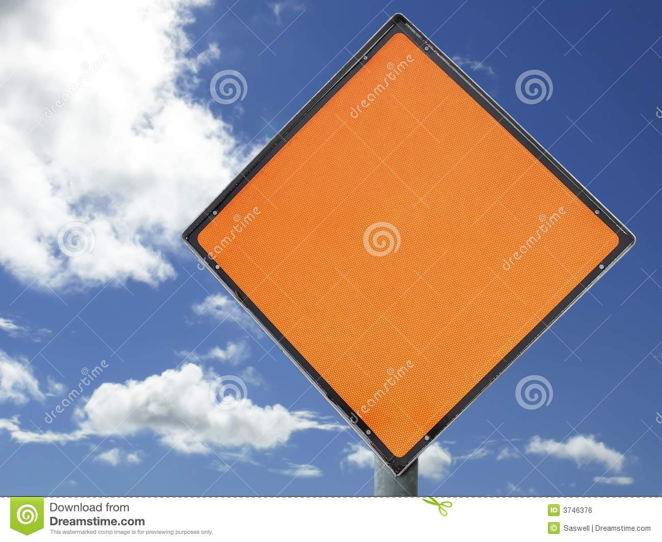 blank construction sign stock photo image of blue message 3746376