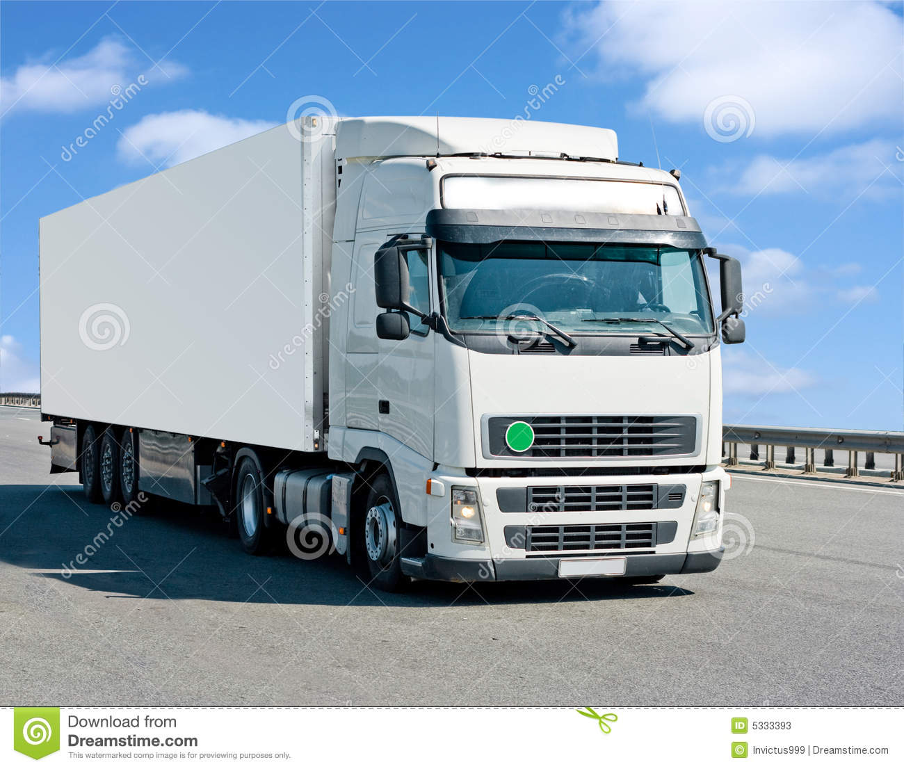 Blank Container Truck Stock Photos - Image: 5333393