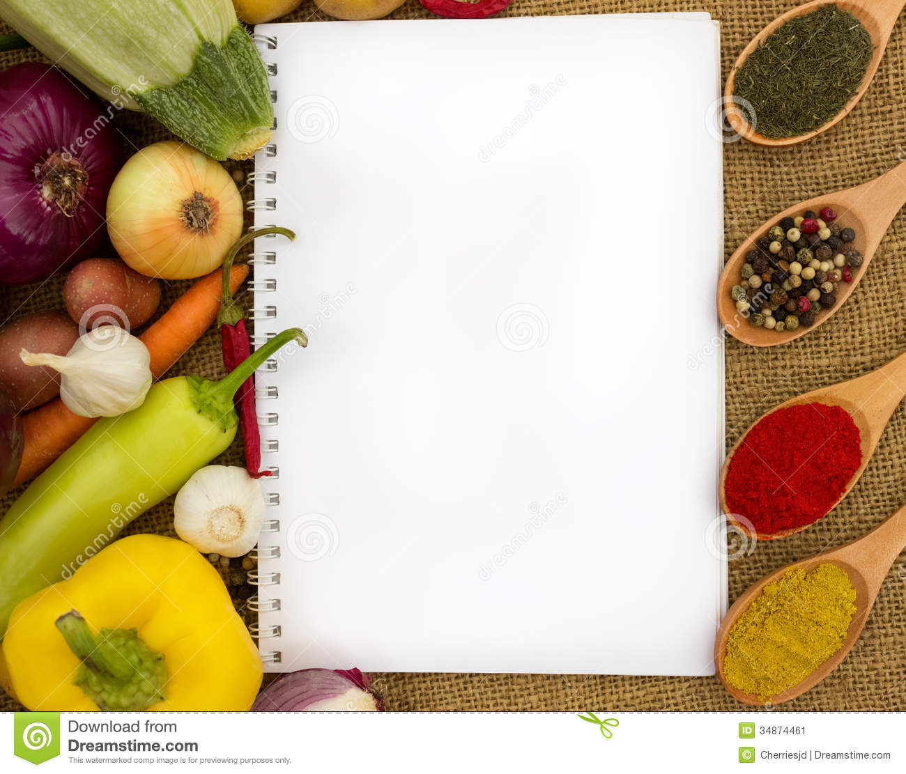 Blank Cookbook For Recipes Stock Image Of Diet