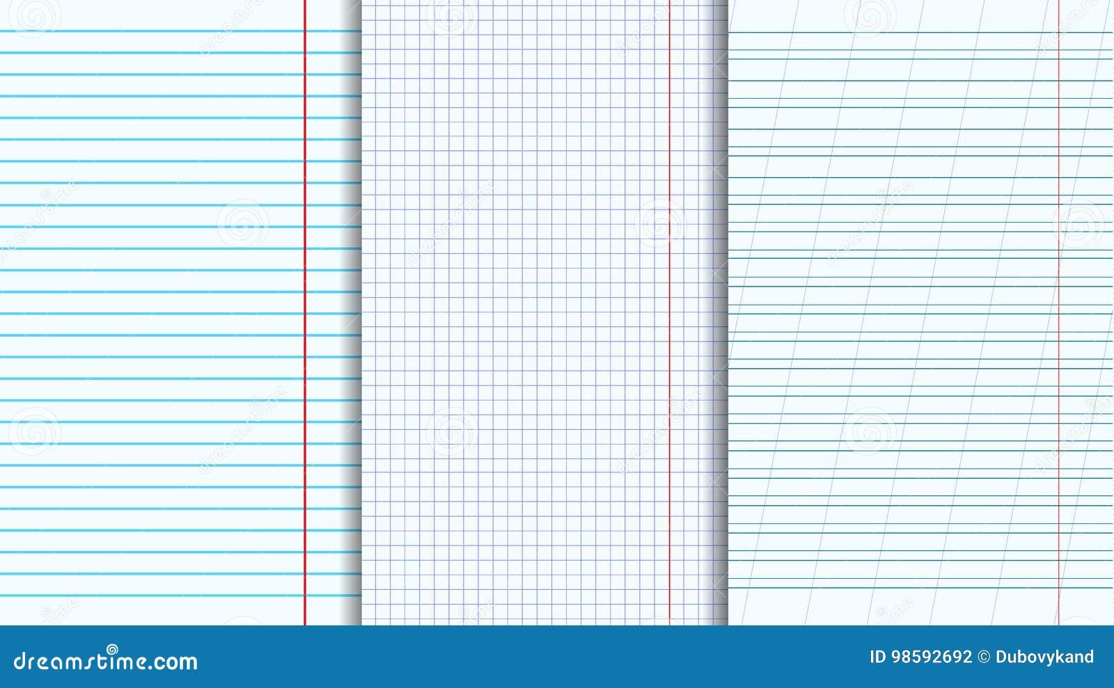 blank copy books sheets set stock illustration illustration of