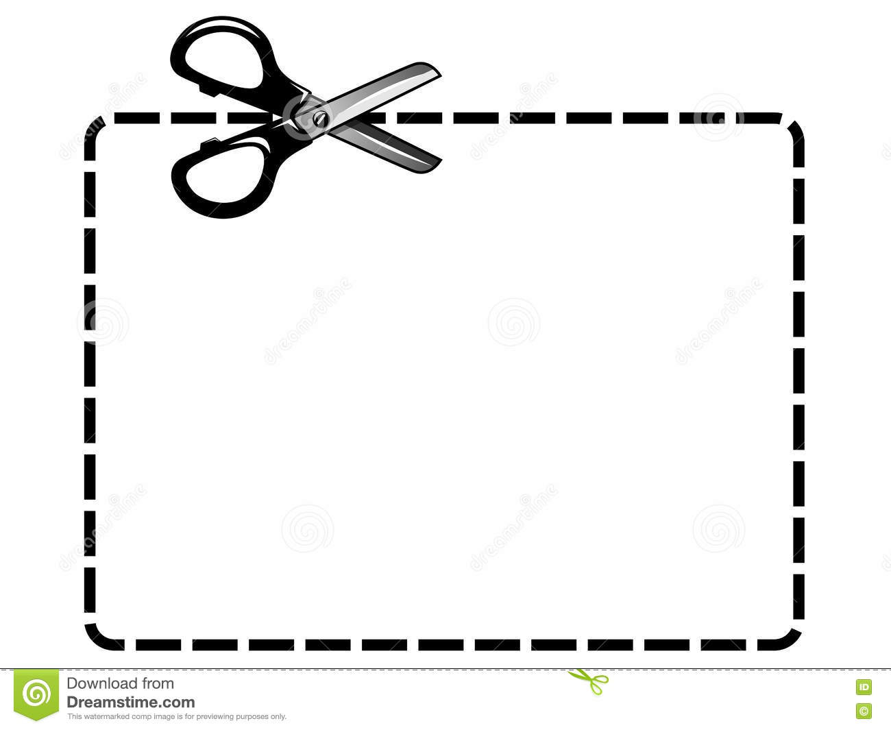blank coupon cutout isolated scissor stock vector illustration of