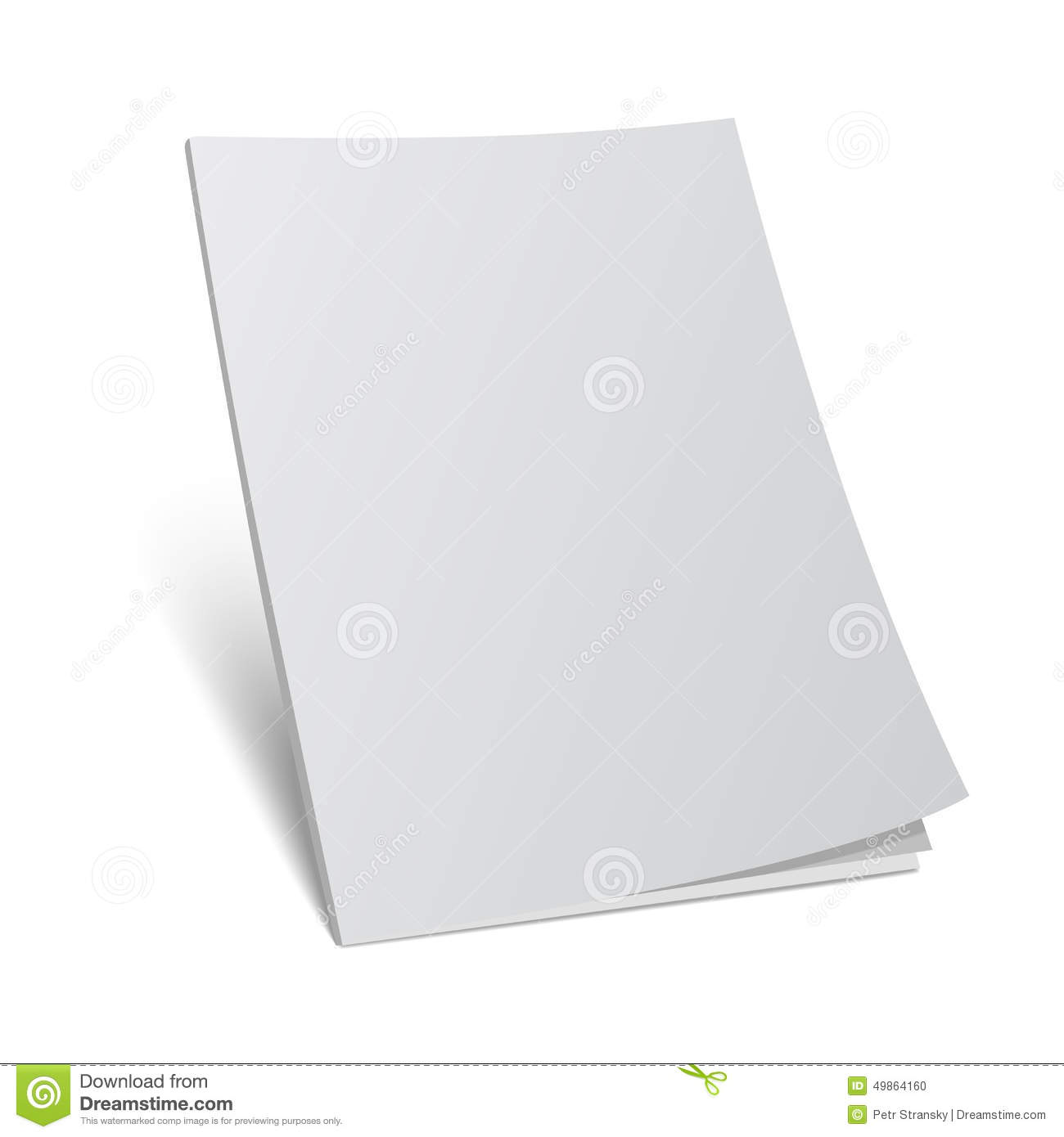 illustration blank cover magazine book with blank cover