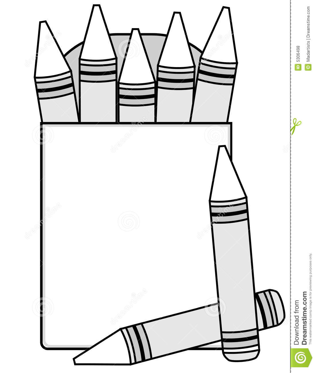 blank crayons and crayon box stock illustration illustration of