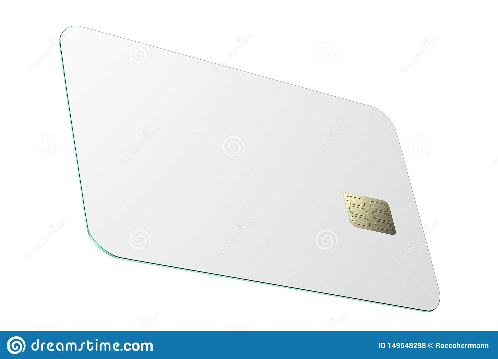 colored blank credit card  illustration stock
