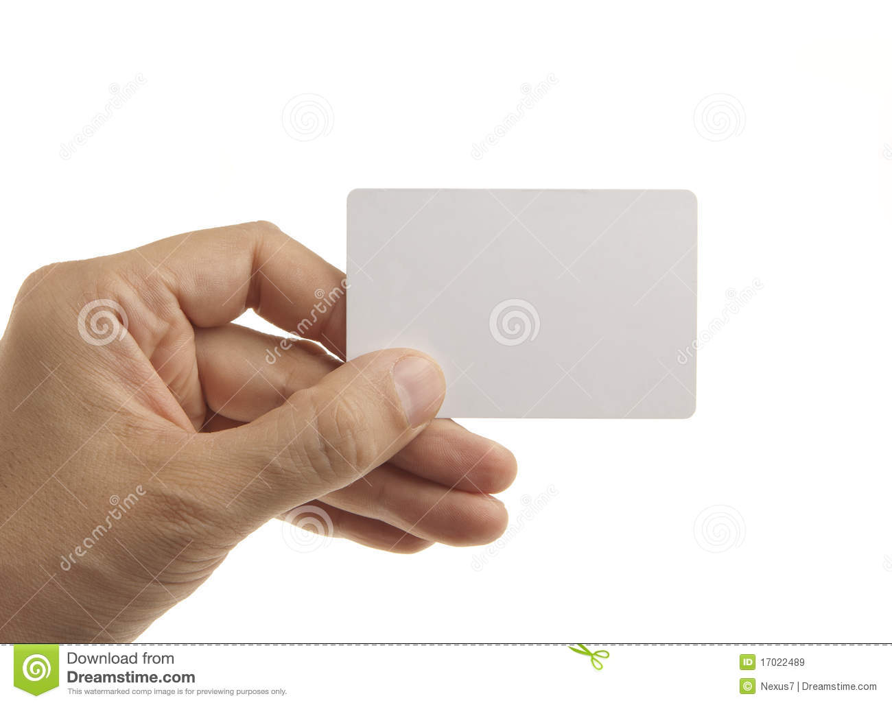 blank credit card in hand stock image image of credit