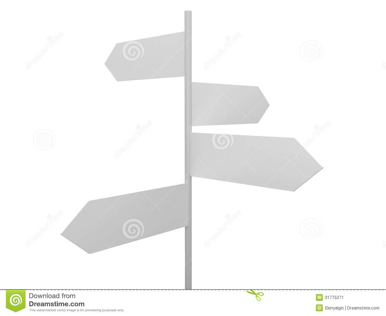 blank crossroad signs stock illustration illustration of concept
