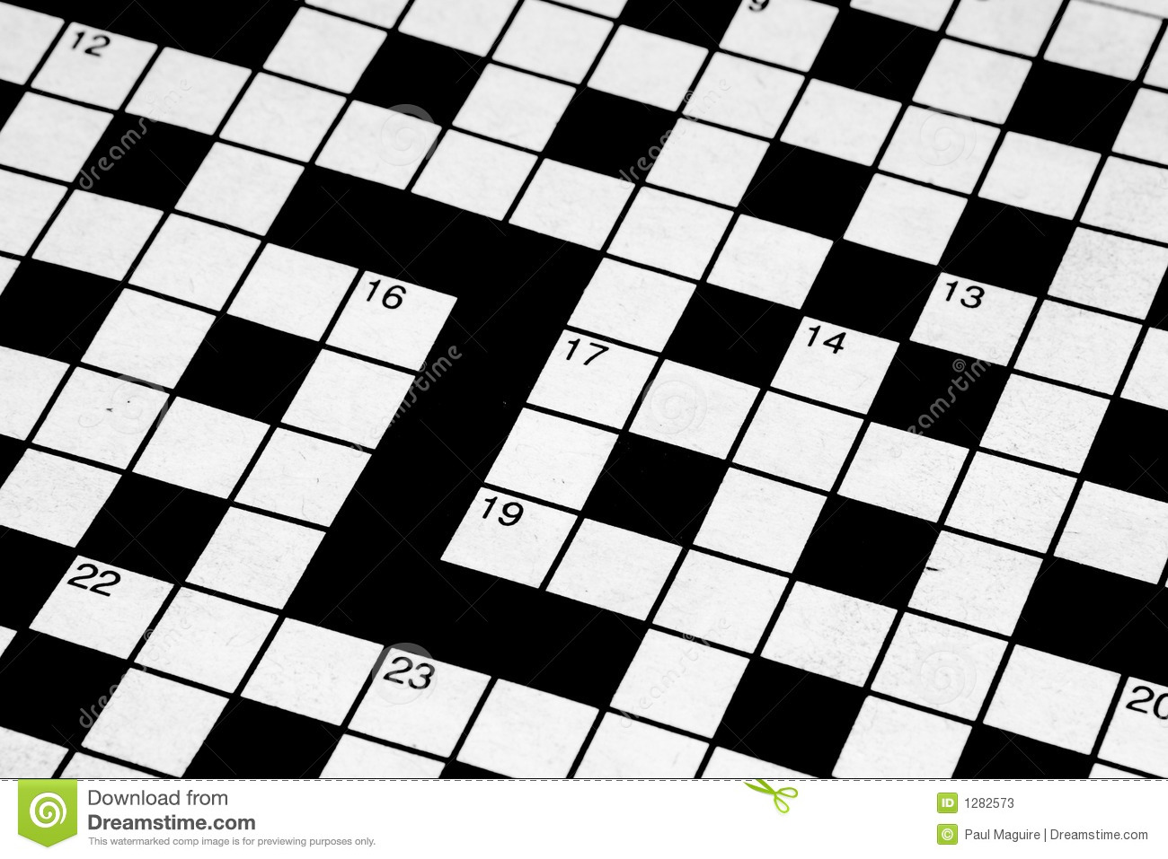 Blank Crossword Stock Image Of Answer