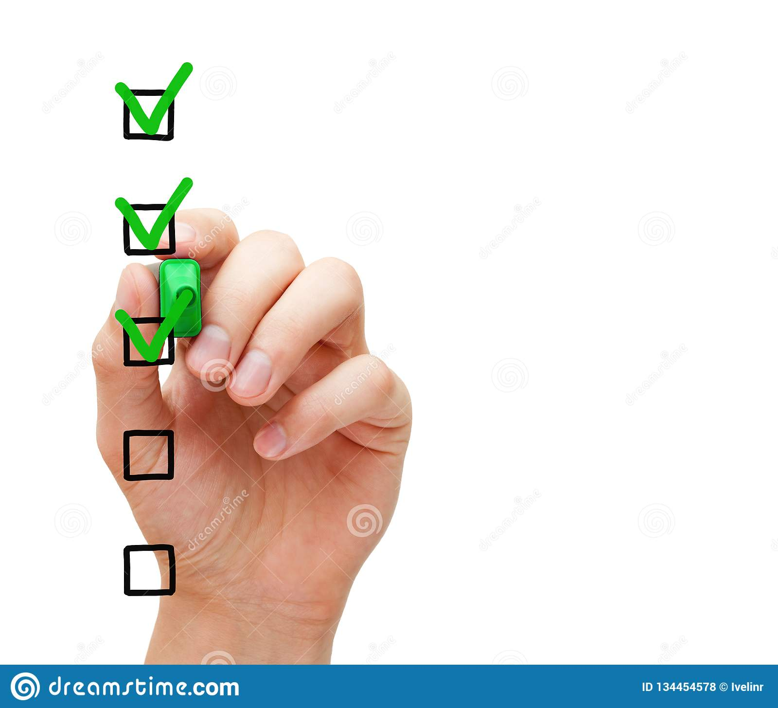 Blank Customer Service Survey Checklist Concept Stock Photo - Image