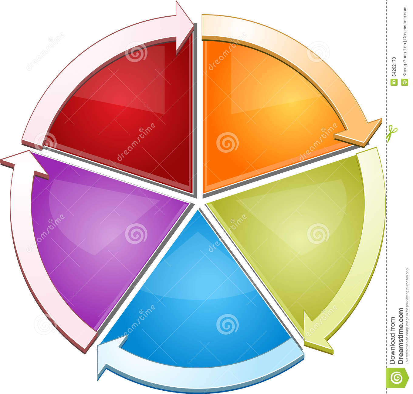 Blank Cycle Business Diagram Illustration Stock ...