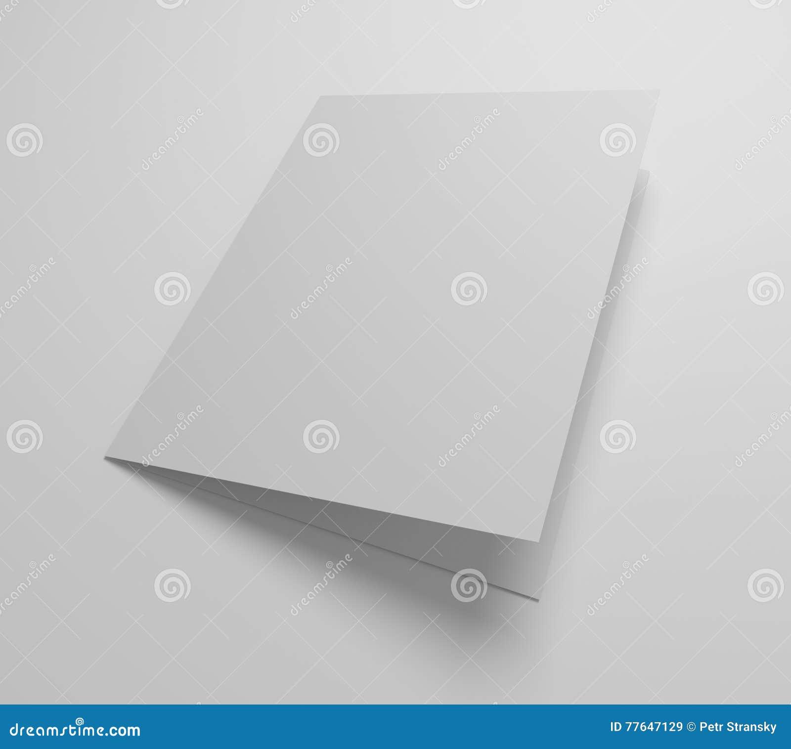 Blank 3d Illustration Greeting Card Mockup Stock Illustration