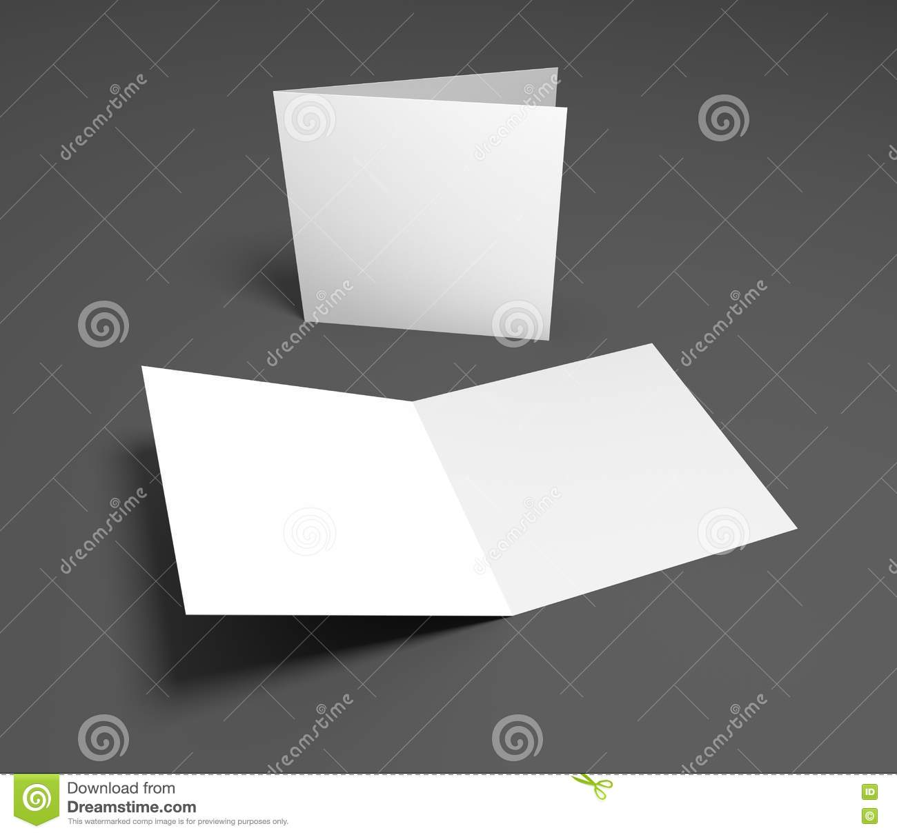Blank 3d illustration open square greeting cards stock blank 3d illustration open square greeting cards kristyandbryce Gallery
