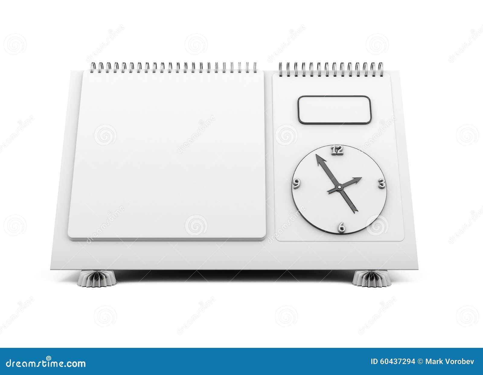 Blank Calendar Cartoon : Empty template desk calendar d royalty free