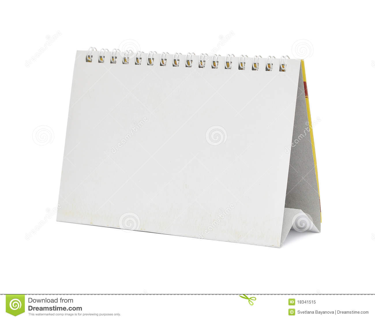 Weekly Calendar Desktop : Blank desktop calendar stock image of month