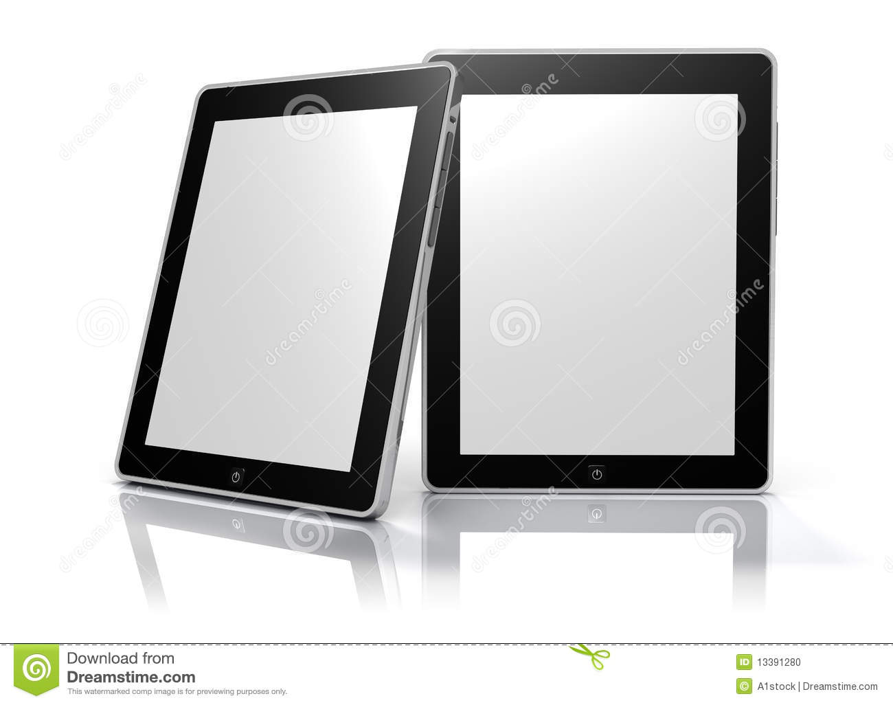 Blank Digital Picture Frames (Clipping Path) Stock Illustration ...