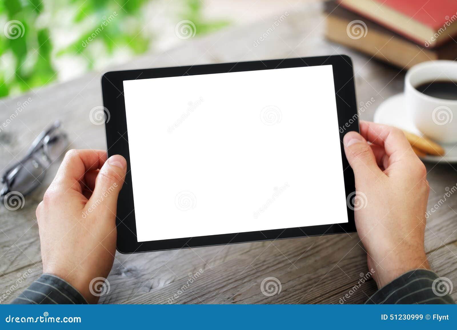 Blank digital skärmtablet