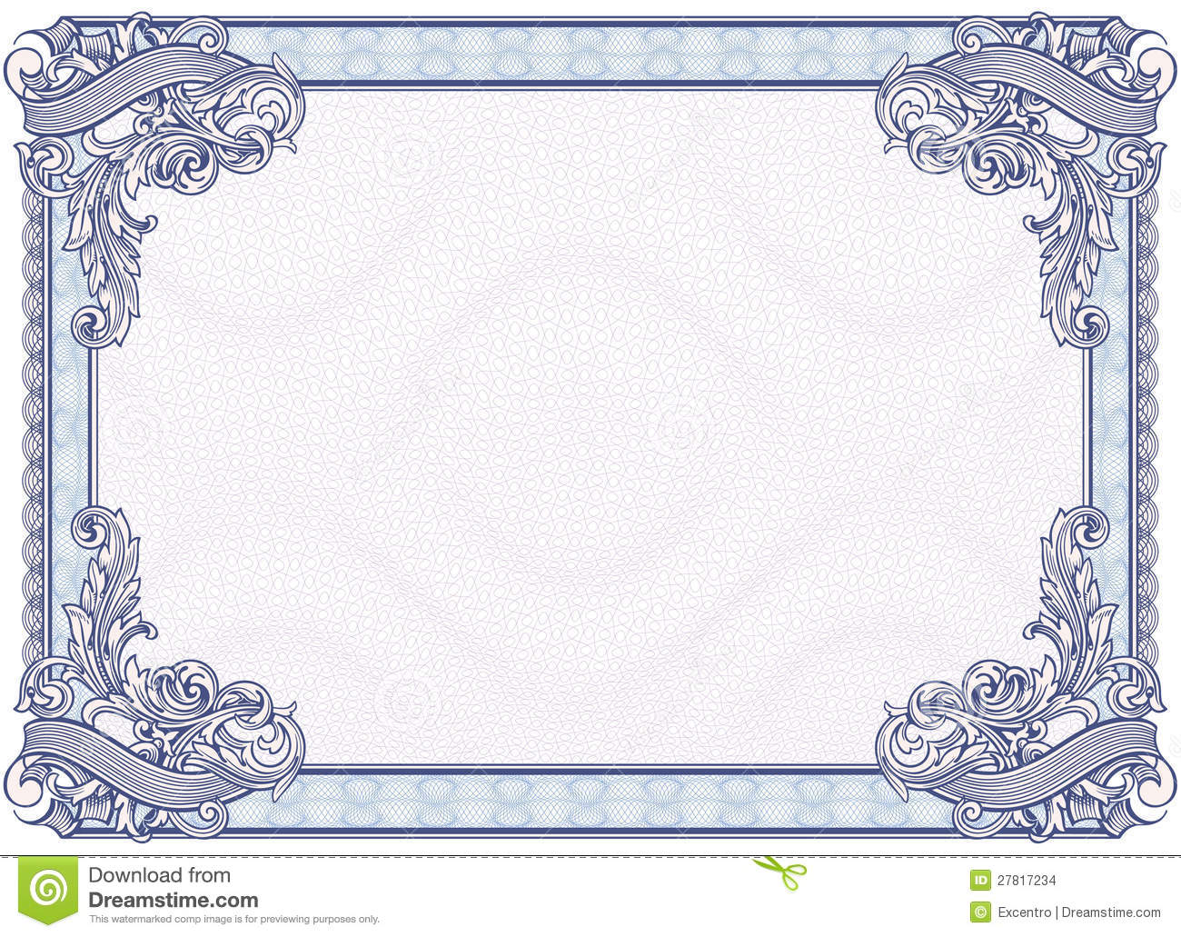Blank diploma or certificate stock vector illustration of blank diploma or certificate currency graphic yadclub Images