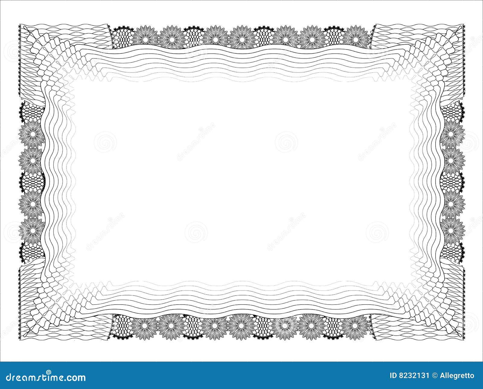 Stock Image: Blank diploma template. Image: 8232131