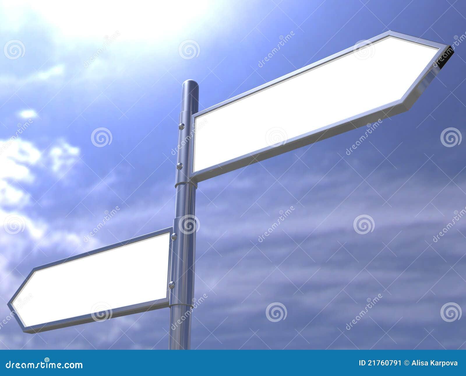 blank directional road sign post stock illustration illustration
