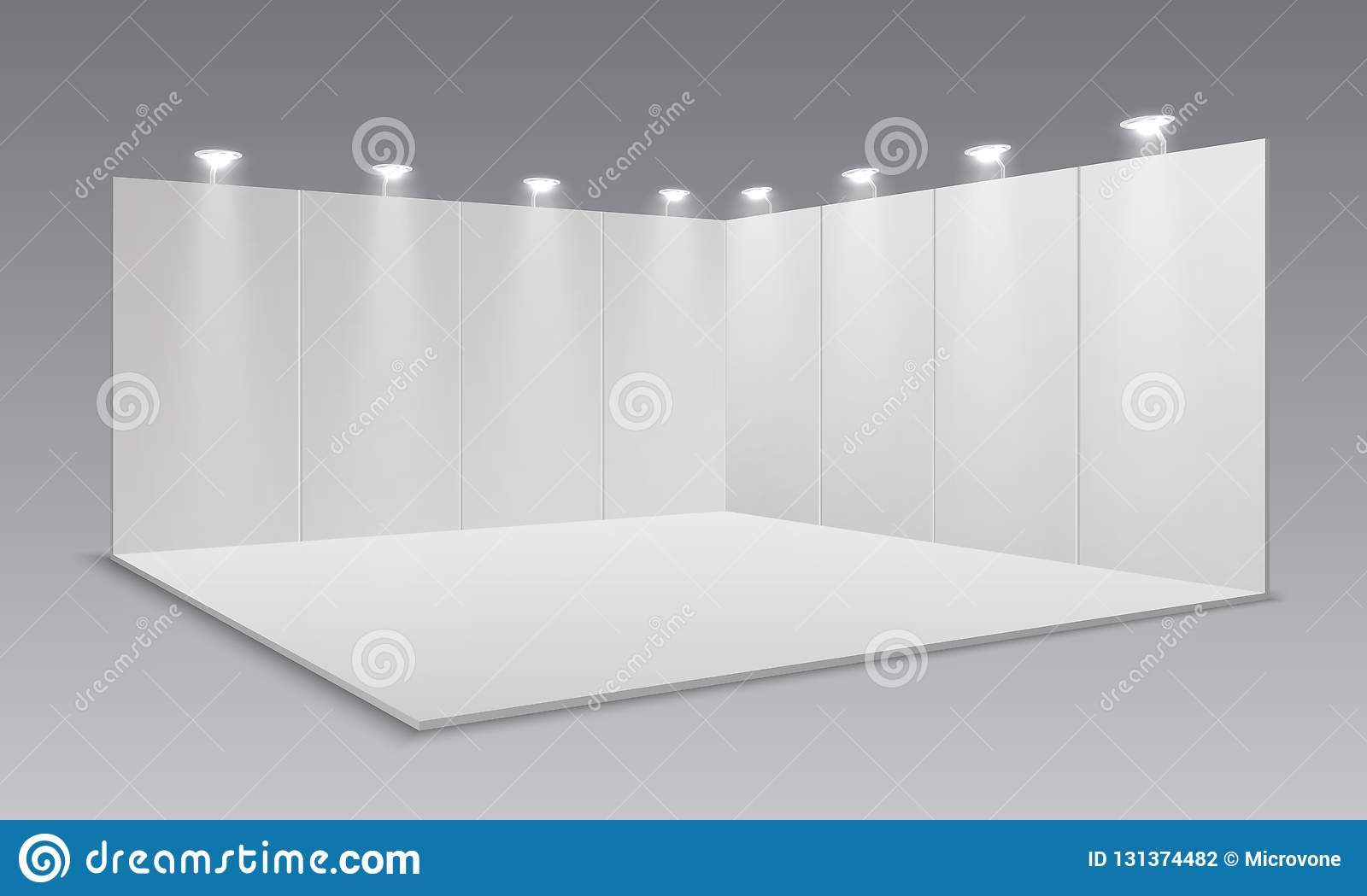 Exhibition Stand Framework : Blank display exhibition stand white empty panels promotional