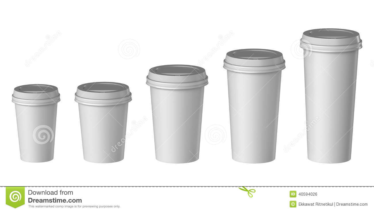 Small Pix Of Large Cups To : Blank disposable cup with cover extra small medium