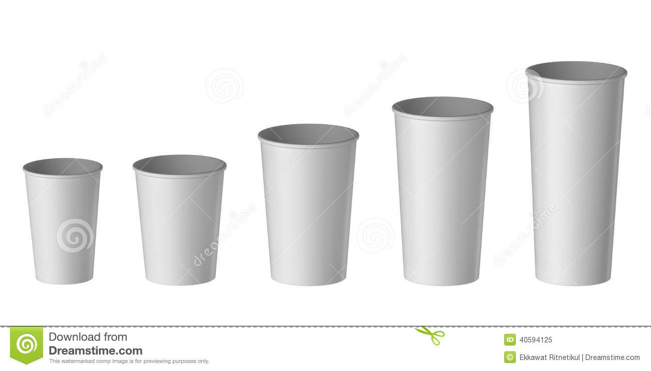 Small Pix Of Large Cups To : Blank disposable cup extra small medium large stock