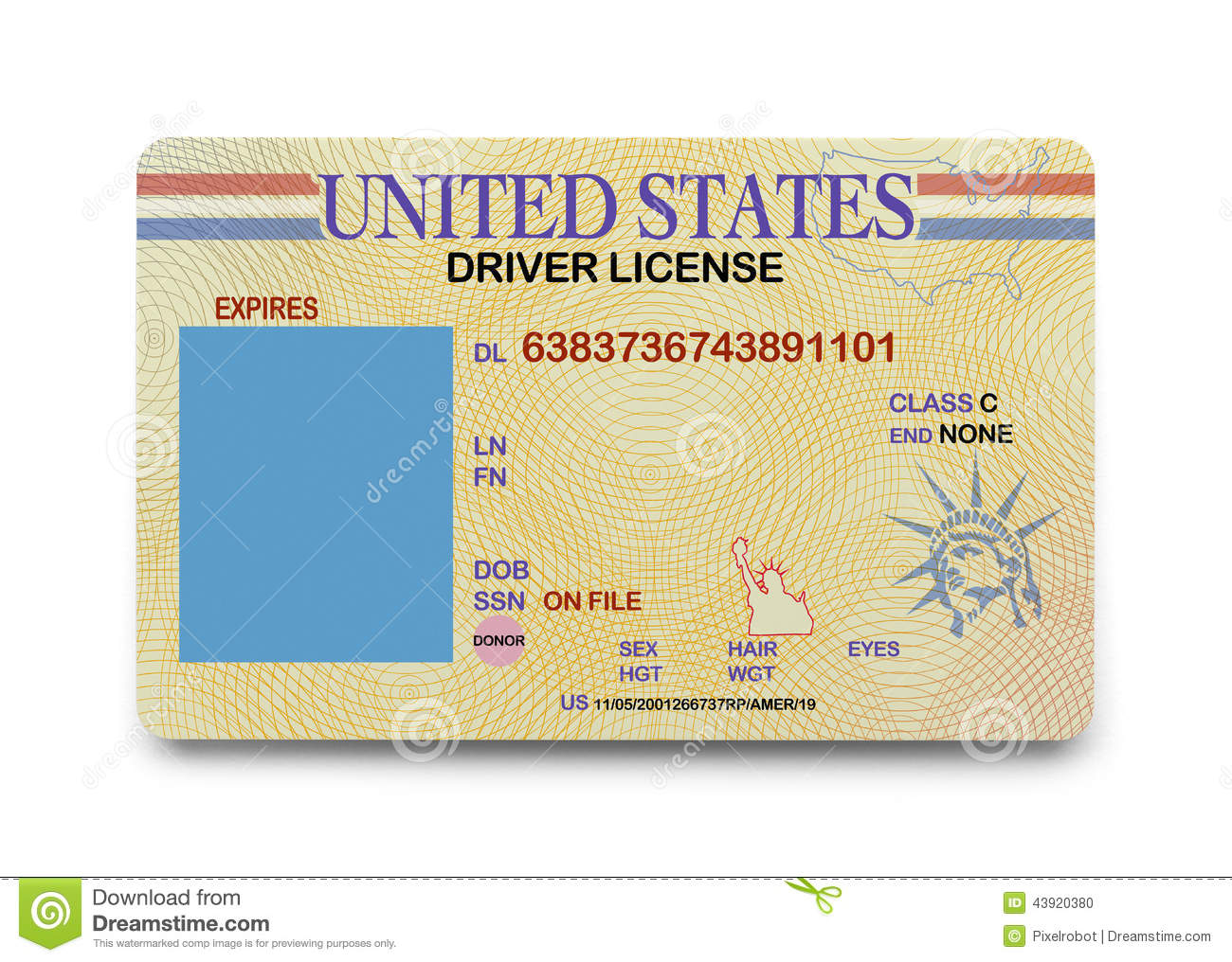 Blank Driver License Stock Photo Image Of Current