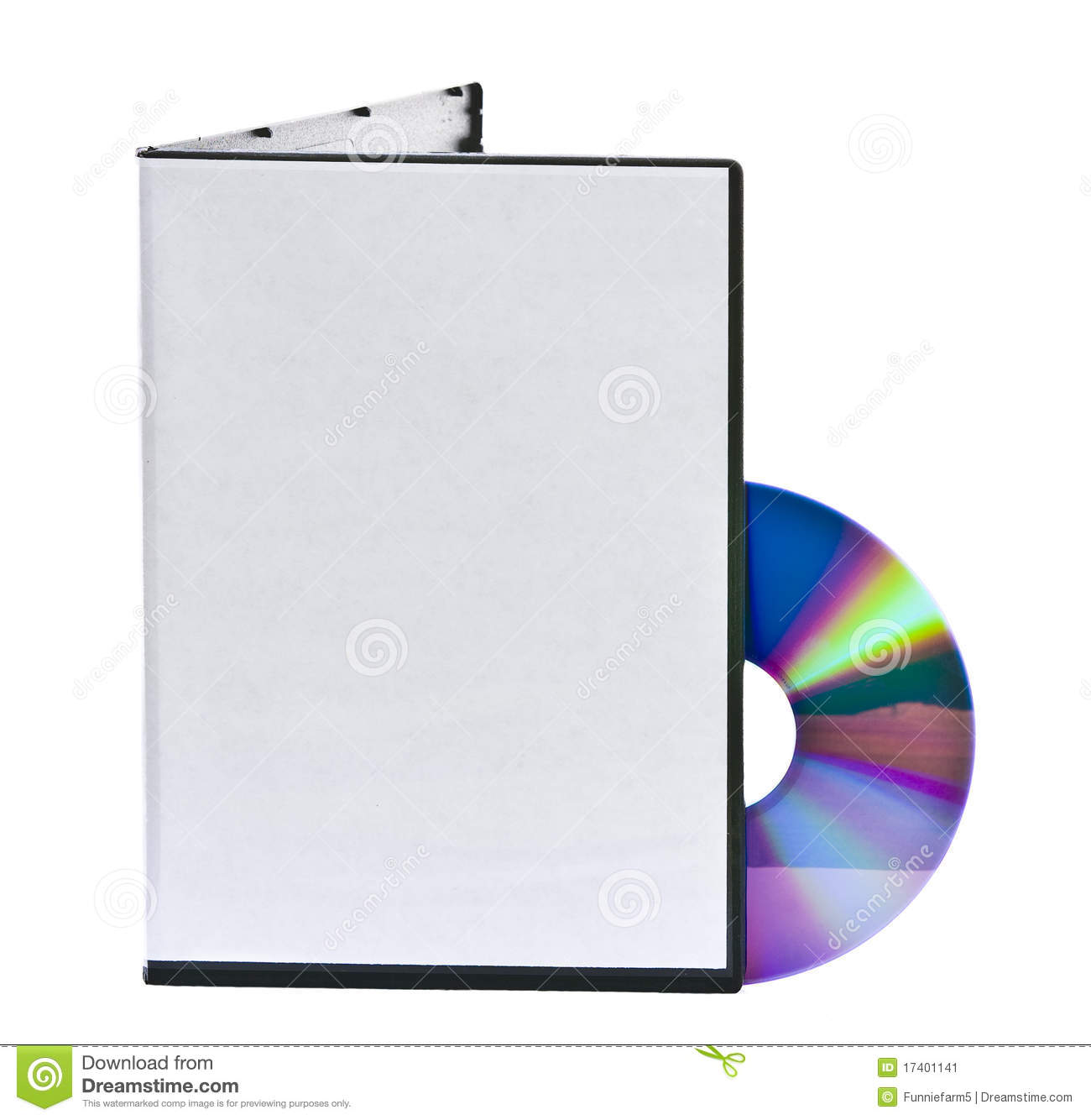 Blank Dvd Case And Disc Stock Image Image 17401141