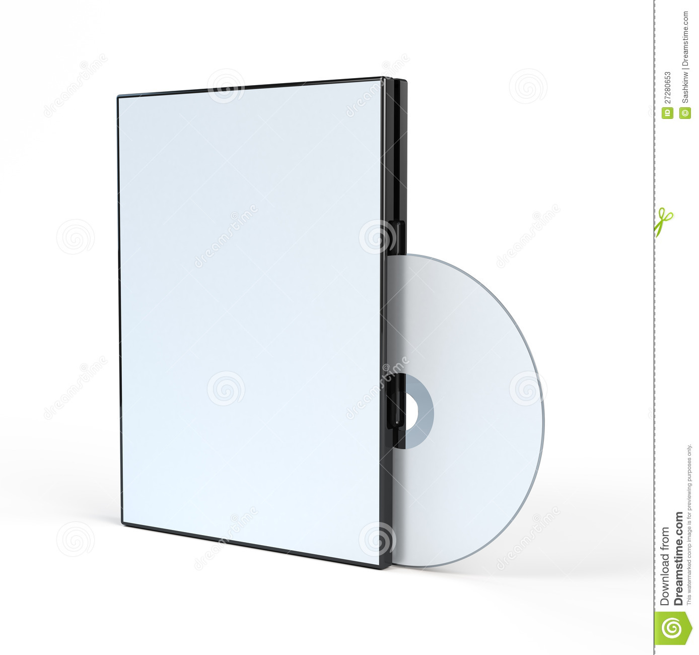 blank dvd case and disc illustration 27280653 megapixl