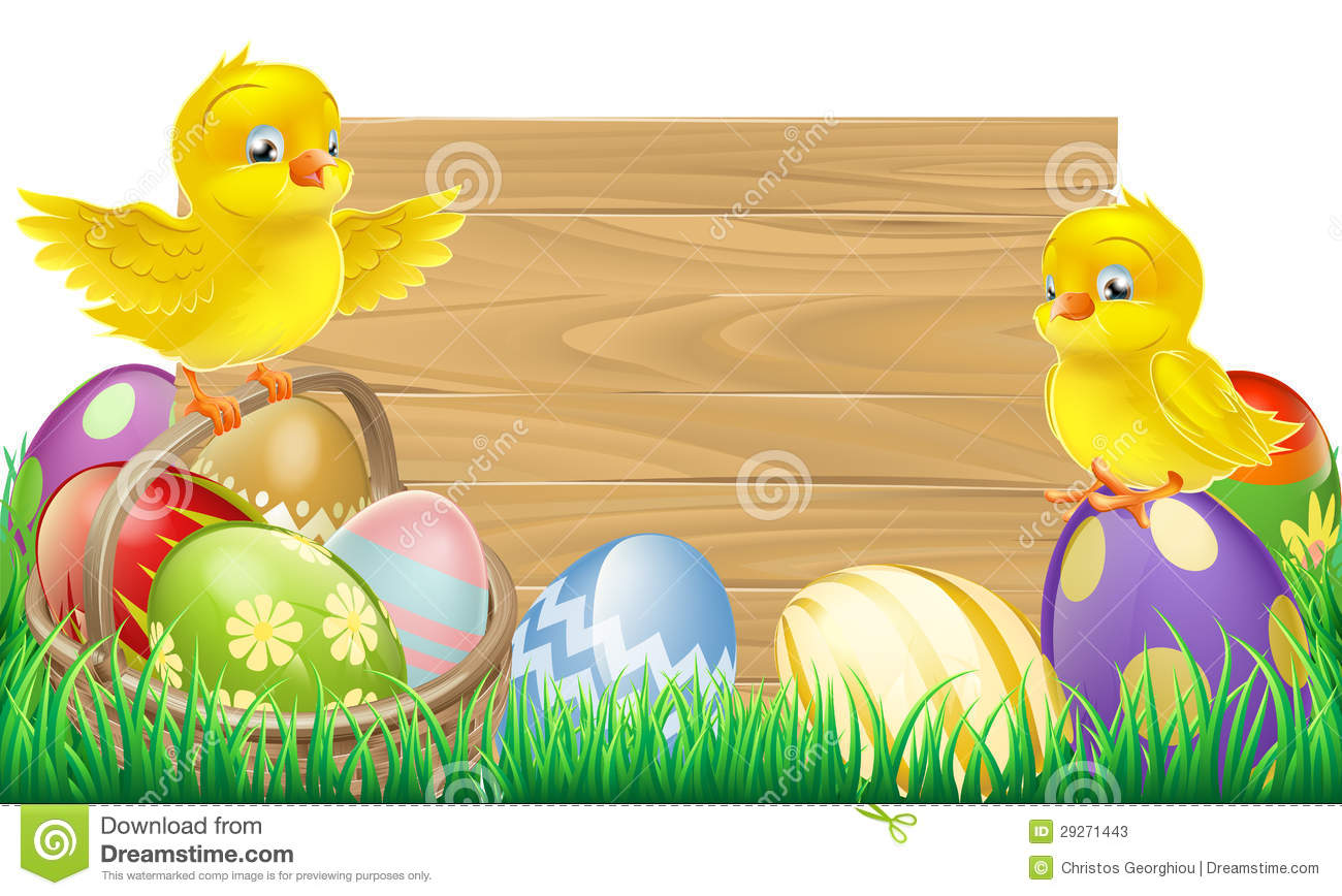 blank wooden Easter sign with copyspace in the centre for your text.