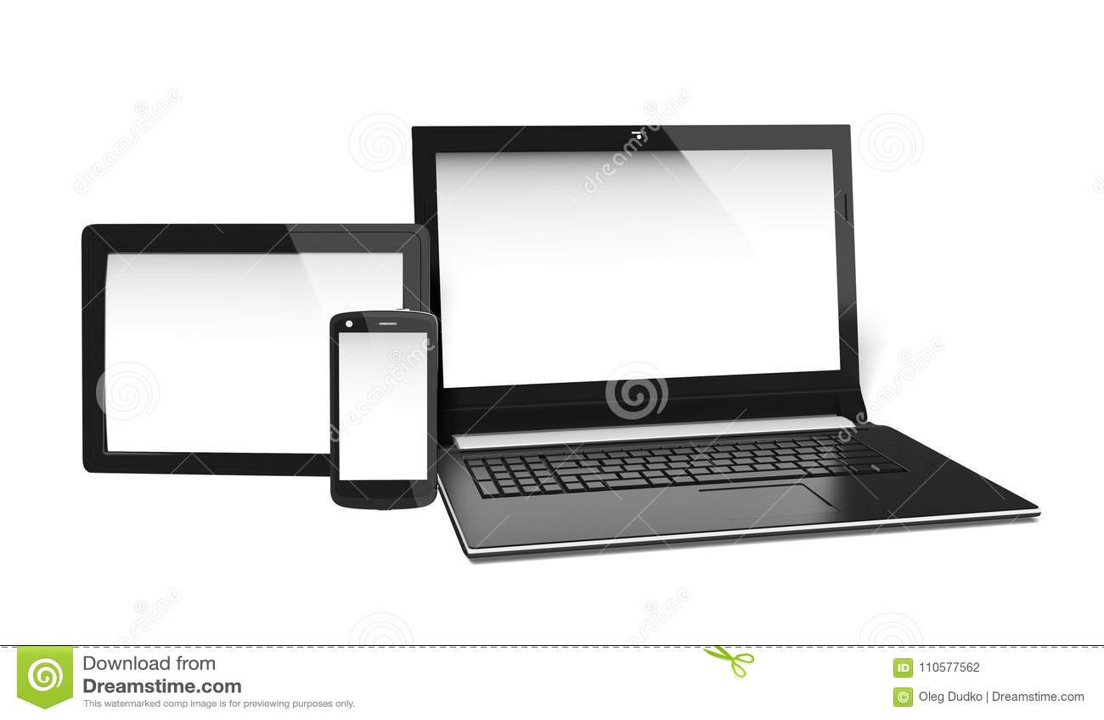 Blank electronics screens