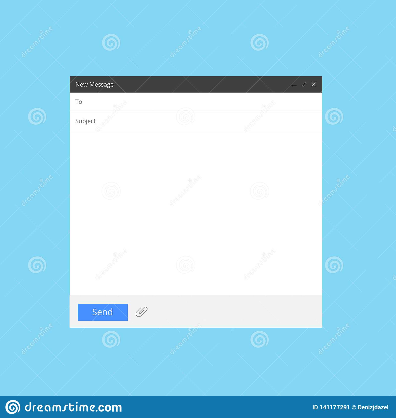 Blank Email Screen Mail Message Interface Blank Mockup Internet Window Computer Box Page Web Software Browser Vector Stock Vector Illustration Of Blog Flat 141177291
