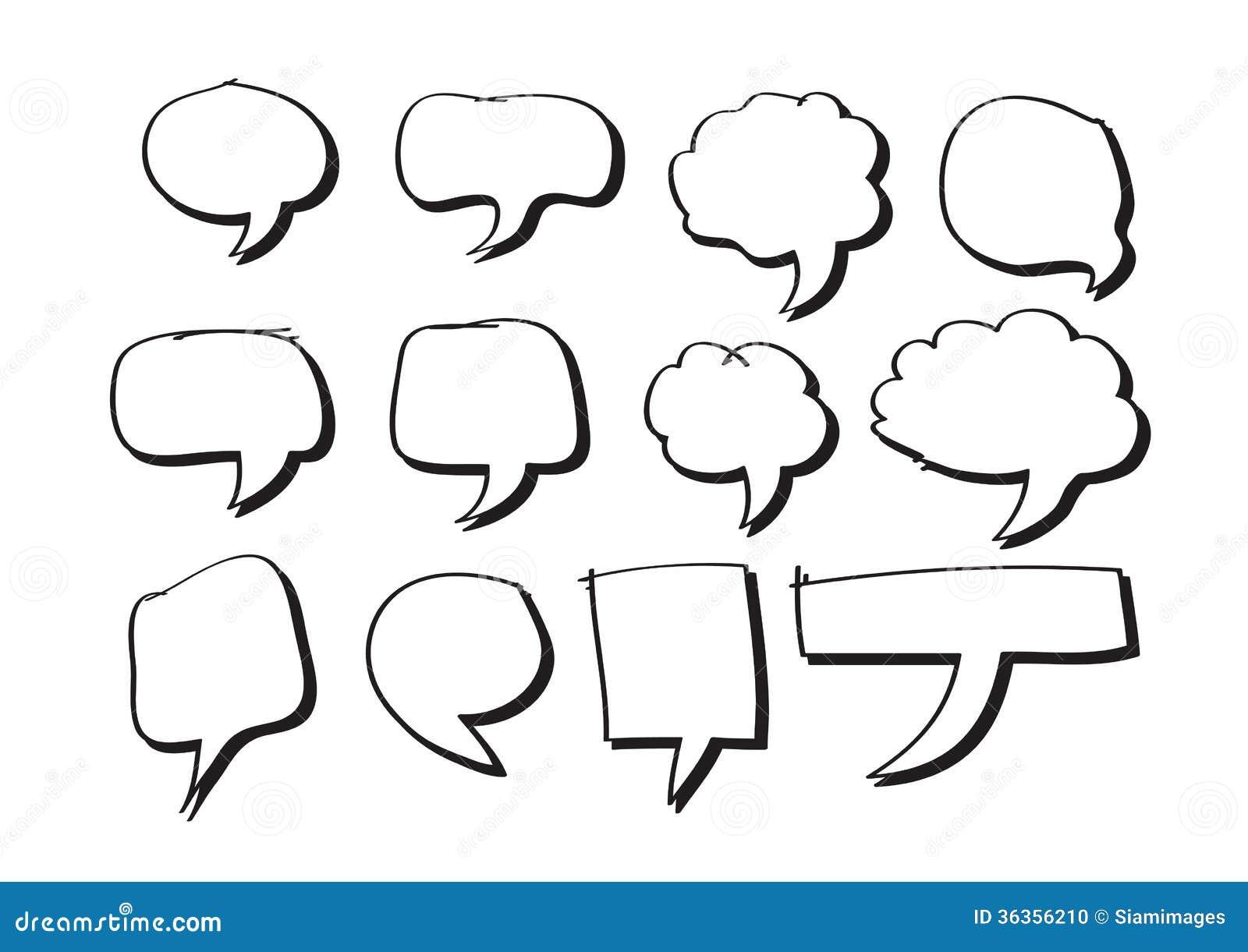 Blank empty speech bubbles stock illustration ...