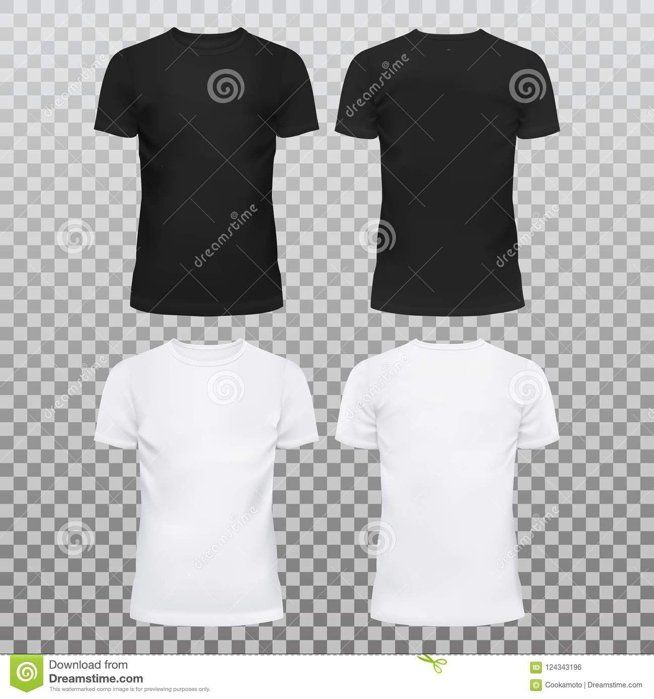 d68940af83f1 Amazing mockup blank t-shirts for men and women. Summer clothing with  u-neck at front. Dress for man and woman, male and female, boy and girl.