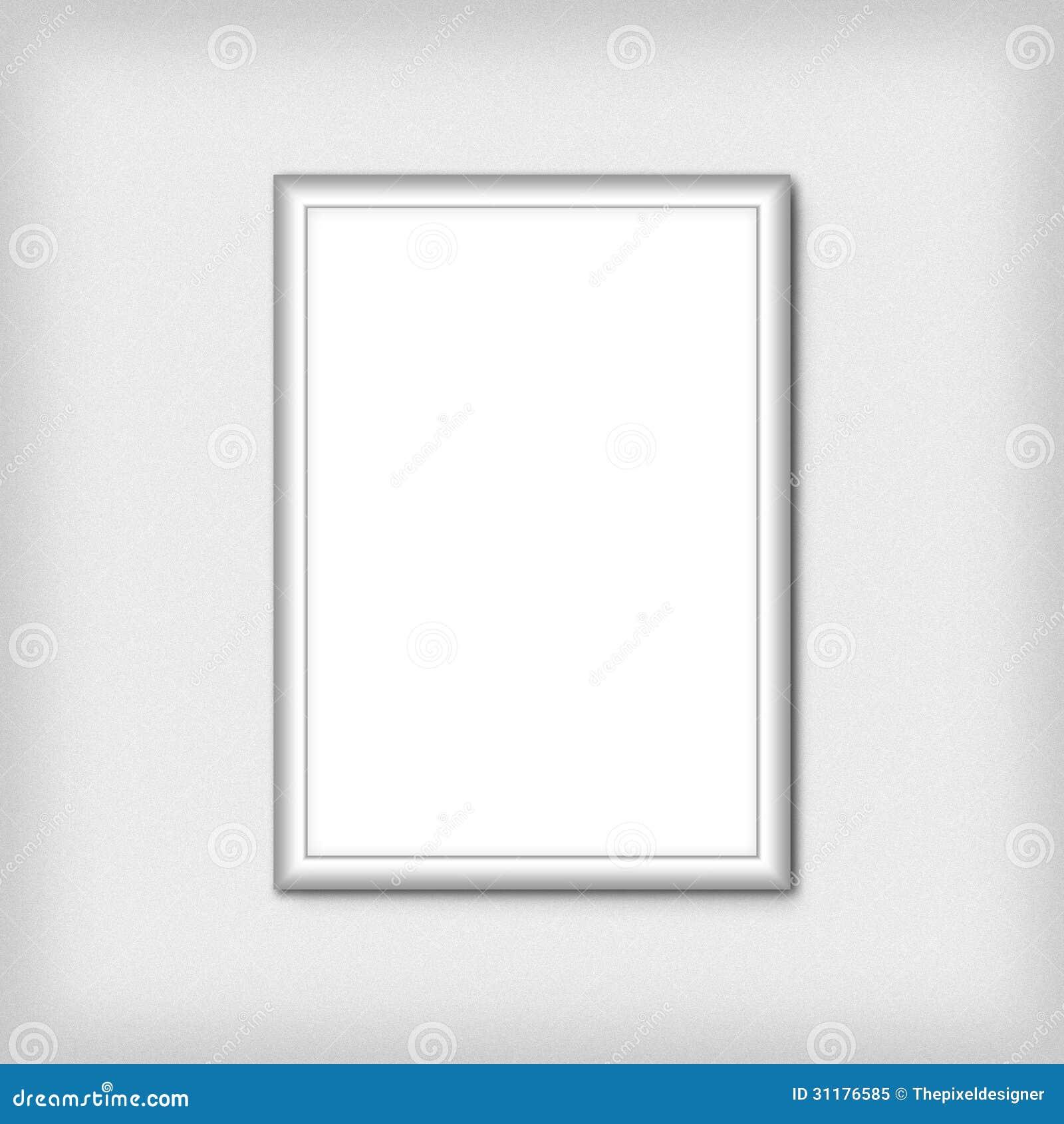 Blank empty white frame stock illustration. Illustration of isolated ...
